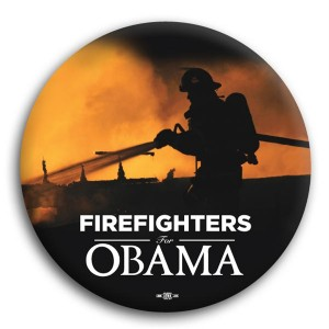 """Firefighters for Obama Button 3"""""""