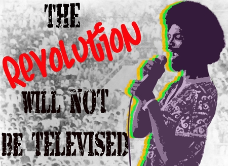 """Gil Scott Heron """"The Revolution Will Not Be Televised"""" #2 Poster"""