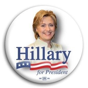 Hillary for President Button Pin - Available in 3 Sizes!