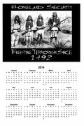 "Homeland Security 2014 Calendar 11"" X 17"""