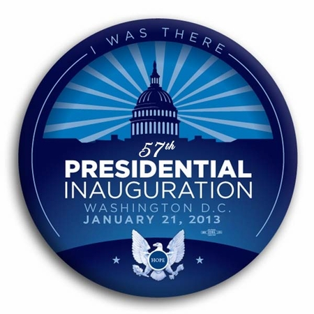 """I Was There Blue 57th President Inauguration Button 3"""""""