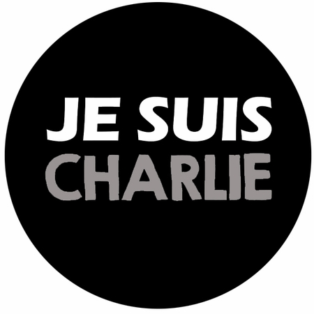 """JE SUIS CHARLIE Buttons in three sizes- 1.25"""" 2"""" 3"""" - Show Your Solidarity!"""
