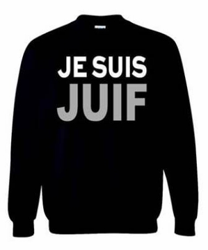 JE SUIS JUIF Sweatshirt - Say No To Anti-Jewish Racism - Show Your Solidarity!