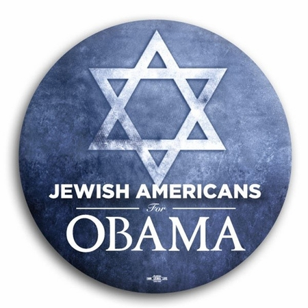 Jewish Americans for Obama Button