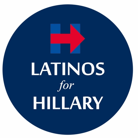 Latinos For Hillary Button - Available in 3 Sizes!