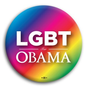 LGBT Gay for Obama Button