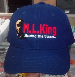 M L King Blue Baseball Cap