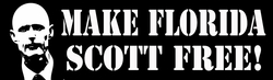 Make Florida Scott Free Bumper Sticker As Low As 59 Cents!