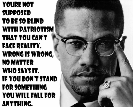 """Malcolm X """"If you stand for nothing you will fall for anything"""" T-Shirt"""