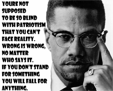 """Malcolm X """"If you stand for nothing you will fall for anything"""" Poster 11""""x 17"""""""