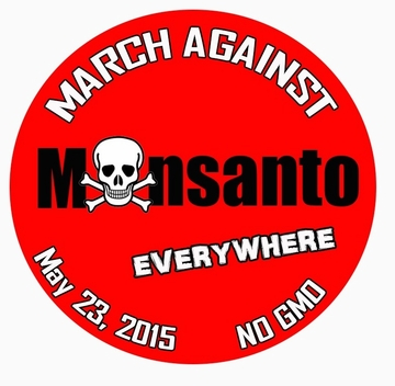March Against Monsanto May 23 Button - Available in 3 Sizes!
