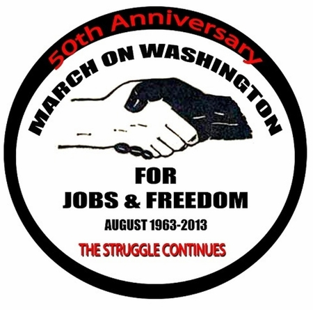 March On Washington 50th Anniversary -The Struggle Continues Button