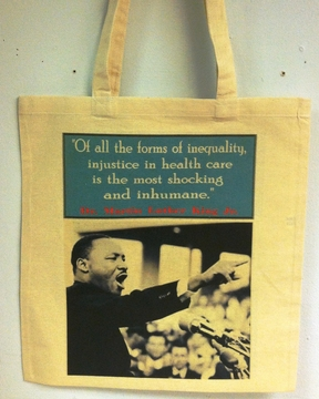 Martin Luther King Healthcare Tote Bag
