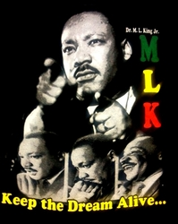 "MARTIN LUTHER KING ""KEEP THE DREAM ALIVE"" T-SHIRT"