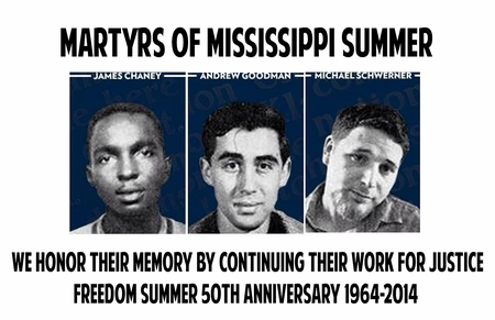 Martyrs Of Mississippi Freedom Summer Poster