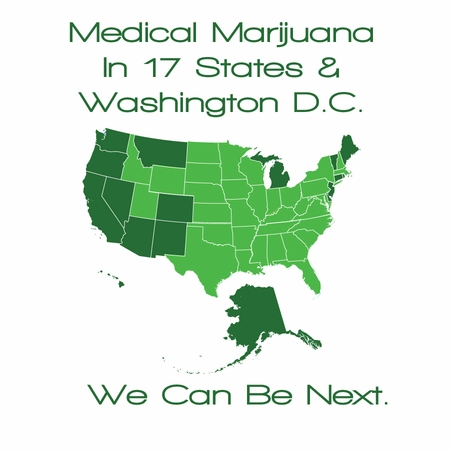 Medical Marijuana Map T-shirt