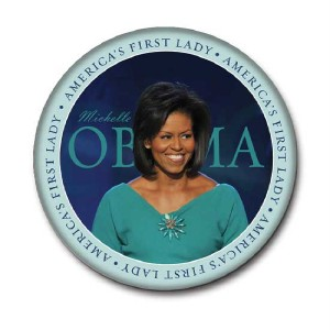 """Michelle Obama First Lady Inaugural Pin Button 3"""""""
