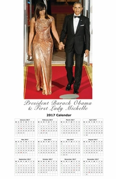 "Obama on the Red Carpet 2017 Calendar 11"" X 17"""