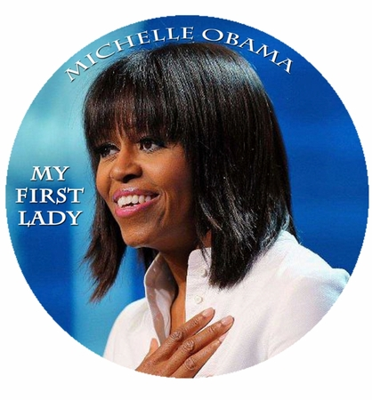 Michelle Obama My First Lady Blue Magnet