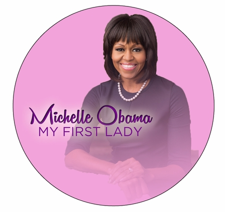 Michelle Obama My First Lady Pink Magnet