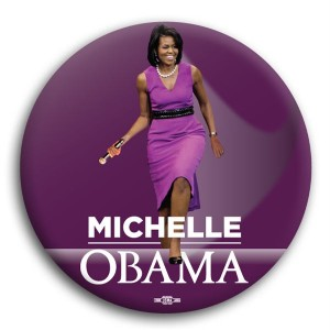 Michelle Obama Standing Button 3""
