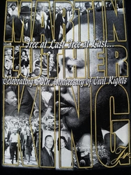 New! Martin Luther King: Celebrating 50th Anniversary Of Civil Rights T- Shirt Two Sided!