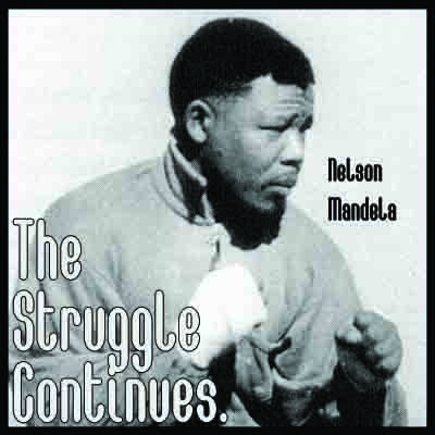 """Nelson Mandela The Struggle Continues Poster 11 x 17"""""""