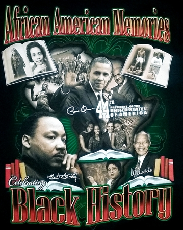 New! African American Memories Black History T-Shirt - 2 Sided!