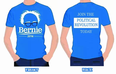 """New! Bernie 2016-Two-Sided T-shirt! """"Join The Political Revolution!"""""""
