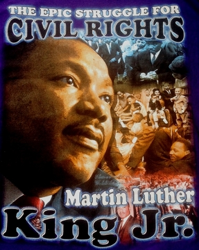 New! Martin Luther King T-Shirt : The Epic Struggle For Civil Rights- 2 Sided!