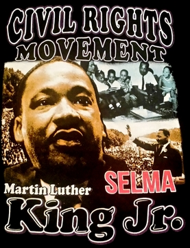 New! Martin Luther King Selma T-Shirt - 2 Sided!