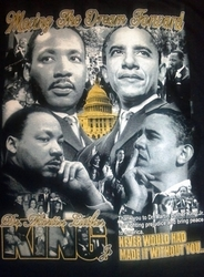 "New! Obama Martin Luther King ""Moving The Dream Forward"" T-Shirt"