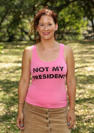 Not My President Womens Tank Top Pink