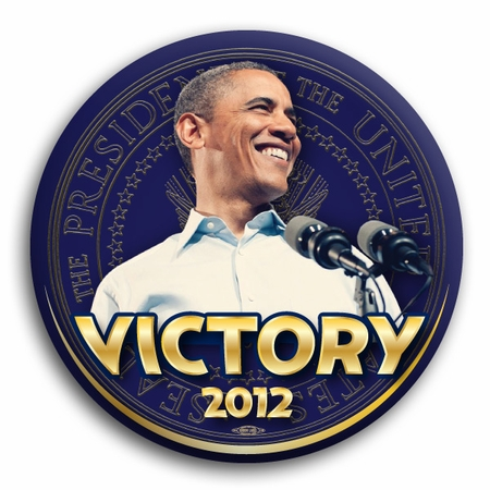 Obama 2012 Victory Presidential Seal Button