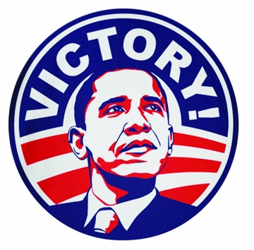 """Obama 2012 Victory Red White and Blue Magnet 3"""""""