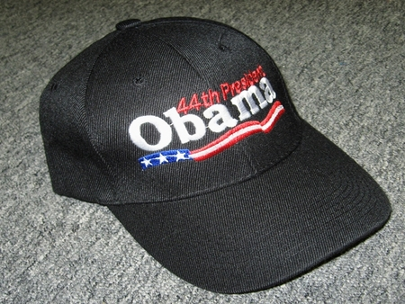 Obama 44th President Black Baseball Cap