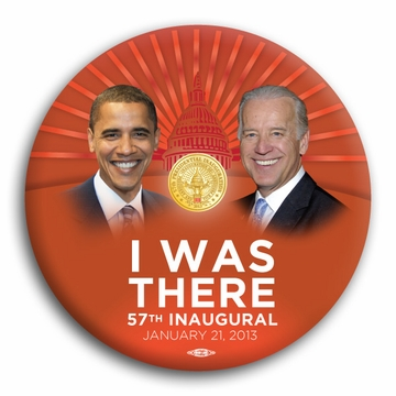 "Obama Biden ""I Was There"" Orange Red 57th Inaugural Magnet"