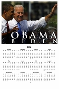 Obama Biden Presidential Seal Calendar