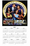 "Obama First Family 2014 Wall Calendar 11"" X 17"""
