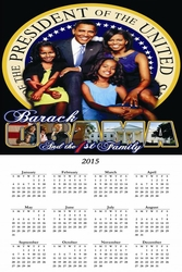 "Obama First Family 2015 Wall Calendar 11"" X 17"""