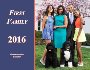 Obama First Family 2016 Flip Calendar- 26 Pages