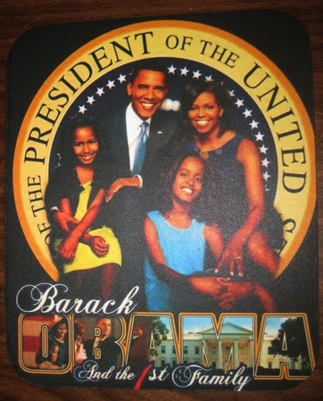 Obama First Family Mouse Pad