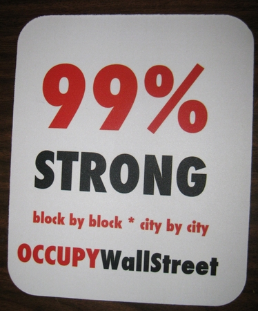 Occupy Wallstreet Mouse Pad