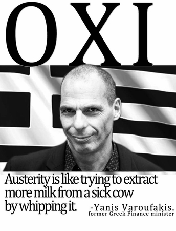 OXI: Greece Says No To Austerity T-Shirt - Show your solidarity for the people of Greece!