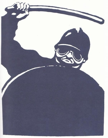 """Police Brutality - Paris May 1968 Street Poster 11"""" x 17"""""""