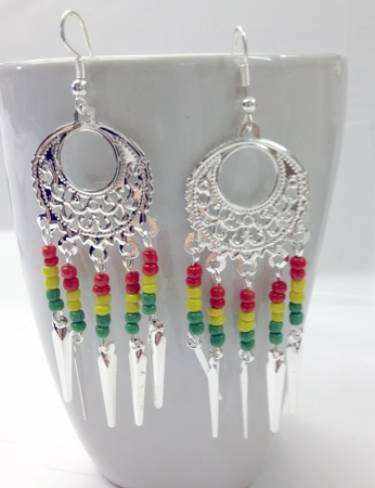 Rasta Dangle Earings