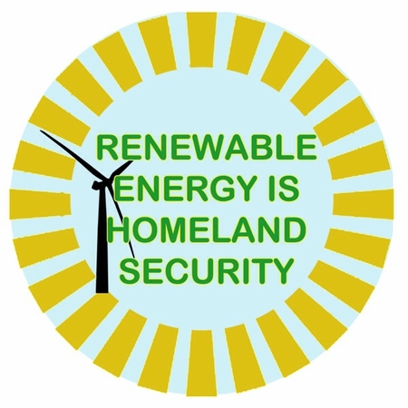 Renewable Energy Is Homeland Security Button