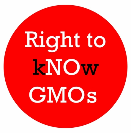 """Right to kNOw GMOs Magnet - 3"""""""