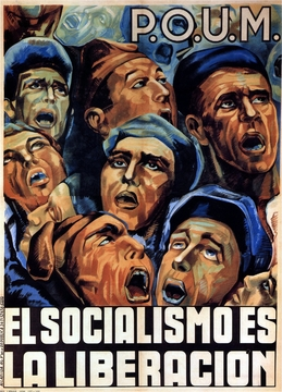"Socialism Is The Liberation Spanish Civil War Poster 11"" x 17"""