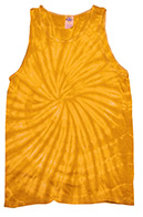 Spider Gold Tie Dye Tank Top